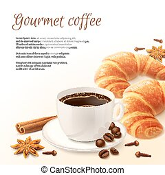 Breakfast With Coffee Background