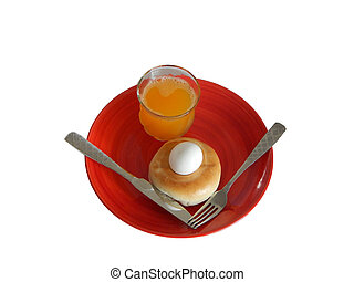 Breakfast with Juice (23-01) - This is a photo of breakfast...