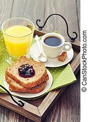 Breakfast with toast