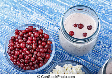 breakfast yogurt with cranberries