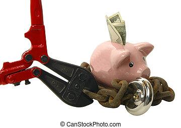 Breaking chain on Piggy bank