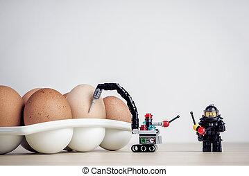 Breaking Egg. Illustrative editorial. July 15, 2021
