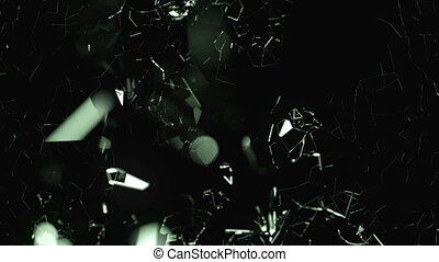 Breaking glass with in slow motion