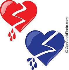 breaking hearts - vector