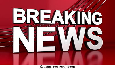 Breaking News Shot Newsroom 3D Crane Animation