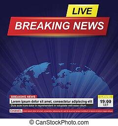 Blue Breaking News Tv Background