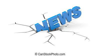 Breaking news - Business concept. Isolated on white