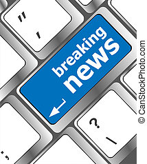 breaking news button on computer keyboard pc key