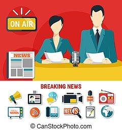 Breaking News Design Concept - Breaking news design concept...
