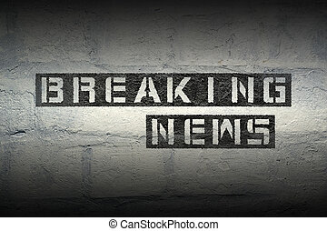 breaking news GR - breaking news stencil print on the grunge...