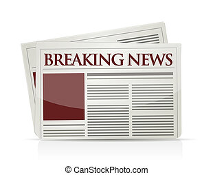 breaking news illustration design