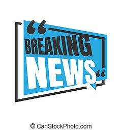 breaking news letter logo icon for News Entertaining show sign banner vector stock illustration