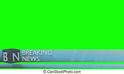 Breaking news lower third 3rd chyron l3rd loop
