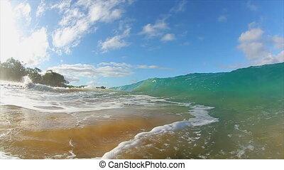Ocean Wave - Breaking Ocean Wave, Water Perspective