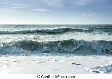 Breaking ocean waves