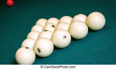 Breaking the balls at a pool game
