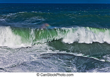 Breaking wave and surf