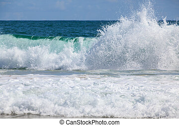 Breaking wave at the beach