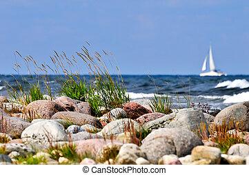 Breaking waves at the swedish coast
