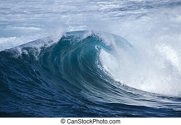 breaking waves natural background - powerful ocean waves...