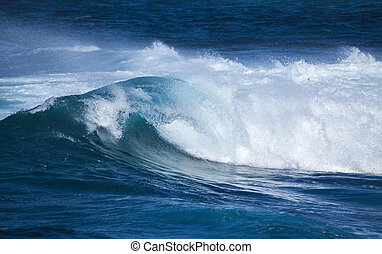 breaking waves natural background - powerful ocean waves...