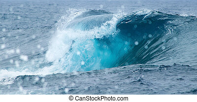 breaking waves - powerful ocean waves braking natural...