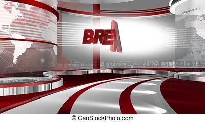 Breaking_news_set2 - Virtual set studio for green footage...