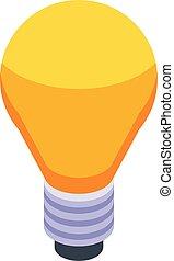 Breakthrough idea bulb icon. Isometric of breakthrough idea bulb vector icon for web design isolated on white background