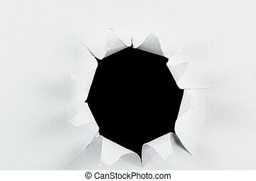 Breakthrough torn big black hole in white paper