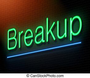 breakup, concept.