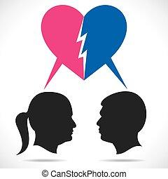 breakup couple stock vector