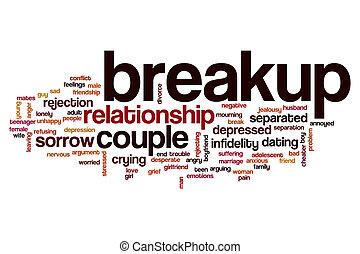 breakup, słowo, chmura