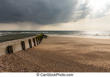 Breakwater at low tide