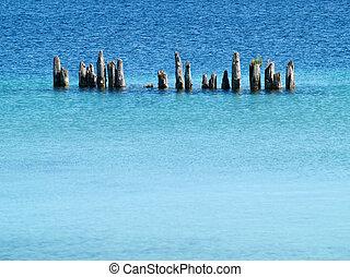 breakwater in the bay