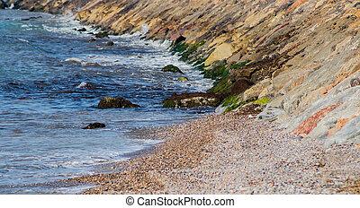Breakwater of the Burriana coast