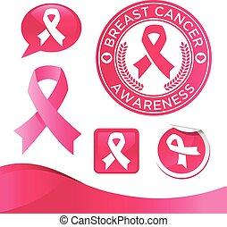 Breast Awareness Pink Ribbons