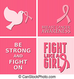 A set of Breast Cancer Awareness cards.