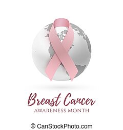 Breast cancer awareness month background.