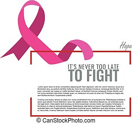 Breast cancer awareness month. Background with pink ribbon.