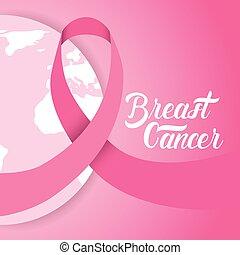 Breast Cancer Awareness Pink Globe Banner