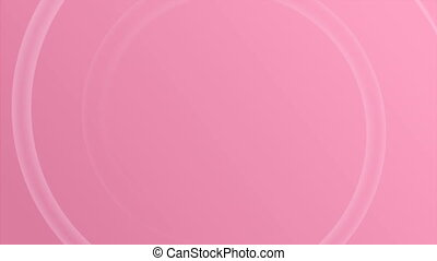 Breast Cancer Awareness month 4k animation, pink ribbon symbol and text for health support. 2d concept footage presentation background template for solidarity help campaign.