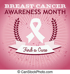 Breast Cancer Awareness Poster - Vector breast cancer...