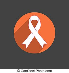 Breast cancer awareness red ribbon
