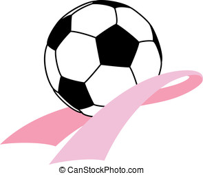 Breast Cancer Awareness Soccer - Vector illustration of a...
