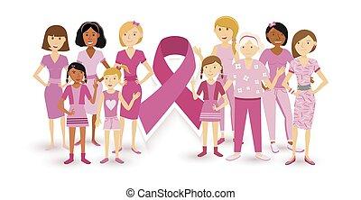 Breast cancer awareness women