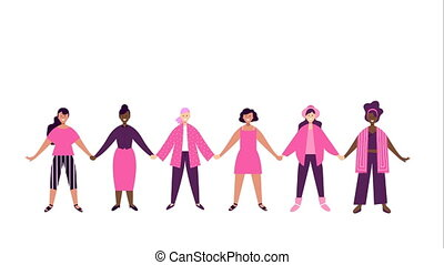 Breast Cancer Awareness women support animation - Breast...