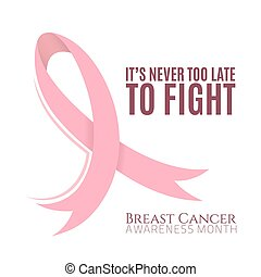 Breast cancer background with pink ribbon.