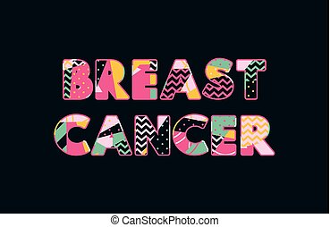 Breast Cancer Concept Word Art Illustration