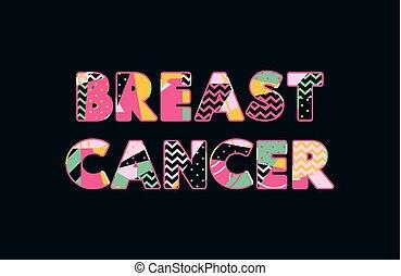 Breast Cancer Concept Word Art Illustration