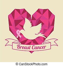 Breast cancer design over white background, vector...